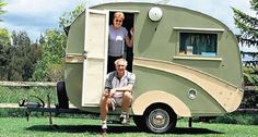 I really want to own a vintage caravan one day!