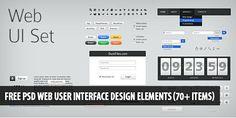 Free PSD Web User Interface Design Elements (70+ items) #resources #webdesign #design #designer #inspiration #web #ui #userinterface #interface #user #download #free #downloads