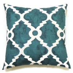 Blue Pillow, 20x20 Pillow Cover, Decorative Pillow, Modern Pillow, Summer Decor, Lake House, Madrid Plantation Blue Slub ($20) found on Polyvore featuring home, home decor, throw pillows, blue toss pillows, modern throw pillows, blue throw pillows, modern home accessories and blue accent pillows