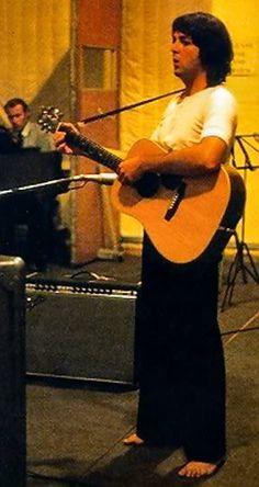 Beatle Paul McCartney in the studio, circa 1968