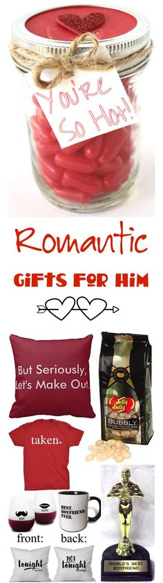 Romantic Gifts for Him!  HUGE list of fun, silly, and romantic gifts for  boyfriends or anniversary ideas for your husband!