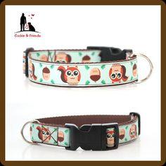 Hundehalsband Happy Hörnchen Zugstophalsband