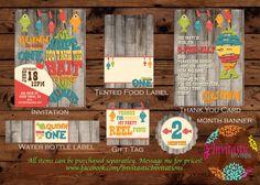 Fishing Birthday Package DIY Printable by InvitasticInvites