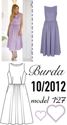 Burda 10/2012 model 127 dress sukienka