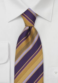 Tino Cosma Krawatte violett goldgelb