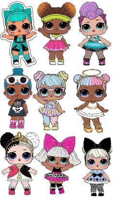 Little Girl Illustrations, Illustration Girl, Lol Doll Cake, Hello Kitty, Doll Party, Doll Painting, Lol Dolls, Birthday Decorations, Paper Dolls