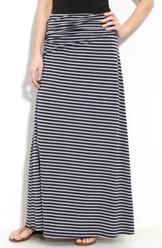 Bobeau Long Stripe Skirt (Regular & Petite) available at #Nordstrom