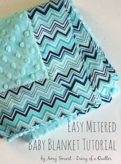 Quick DIY Self-binding Baby Blanket tutorial.