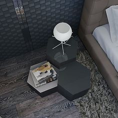 """The ideal occasional table for the modern minimalist. The Modloft Centre Large Occasional Table is crafted in a hexagon shape and finished in natural veneers. Additionally, its painted glass top adds a contemporary touch and makes it perfect next to a couch or your favorite chair to lounge in. Create your own """"hive"""" by adding other Centre Occasional tables—we suggest a variety of heights to create an eye-catching look that will not be forgotten. The Centre Large Occasional Table measure up…"""