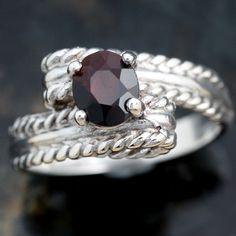 Loving this Garnet ring!