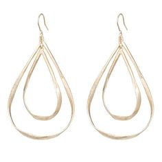 Bleeker Twined Open Loop Drop Earrings By Marcia Moran Jewelry In 18k Gold Plating