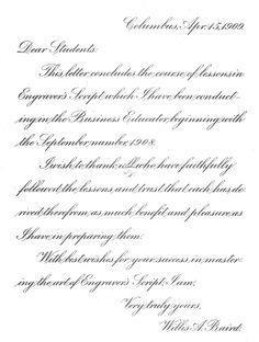letter for solicitation samples writing professional students site Copperplate Calligraphy, How To Write Calligraphy, Calligraphy Handwriting, Calligraphy Letters, Penmanship, Handwriting Examples, Cursive Handwriting Practice, Handwriting Styles, Hand Lettering Alphabet
