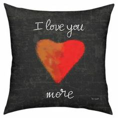 "With an inspirational script motif and heart detail, this chalkboard-inspired pillow makes a lovely addition to your decor.   Product: PillowConstruction Material: Cotton-polyester cover and fiber fillColor: Black and redFeatures:  Insert includedMade in the USA Dimensions: 18"" x 18"""