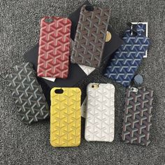 Case For Apple iPhone 7 7 Plus Luxury Goyar Leather Back Cover For iPhone 6 6S 6 Plus 7 7 Plus Exquisite Fashion Phone Case Capa