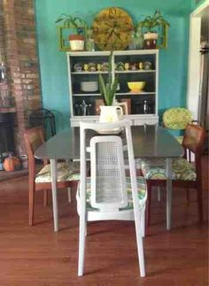 Upscale & Upcycled dining room redo