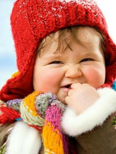 Sweetest little smile and love the cheeks!