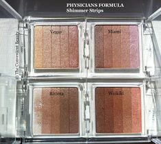 Physicians Formula Shimmer Strips Custom Bronzer, Blush & Eye Shadow in Vegas Strip, Miami Strip, Riviera Strip, and Waikiki Strip