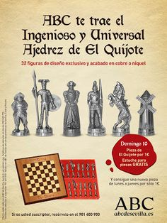 """Tiovivo Publicidad Sevilla: Campaña Ajedrez """"El Quijote"""" ABC de Sevilla"""