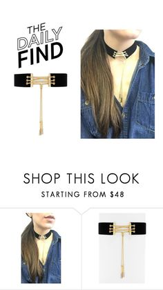 """""""The Daily Find: Bauble Bar Choker"""" by polyvore-editorial ❤ liked on Polyvore featuring BaubleBar and DailyFind"""
