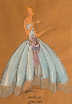 "Jeanne Lanvin - Jeanne Lanvin ""Duchesse Hiver"" Fashion Design at Jeanne Lanvin, Vintage Outfits, Vintage Fashion, Fashion 1920s, Art Deco Fashion, Fashion Design, Fashion Artwork, Color Fashion, Fashion Tips"