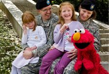 """Nearly 800,000 preschoolers are separated from a parent serving in the U.S. military. Sesame Street is reaching out to help military kids through deployments, combat-related injuries, and the death of a loved one through its """"Talk, Listen, Connect"""" initiative."""