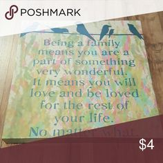 Wall Canvas Quote Like new Other