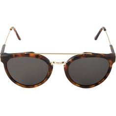 Retrosuperfuture Giaguaro Sunglasses (4,010 MXN) ❤ liked on Polyvore featuring accessories, eyewear, sunglasses, brown, round frame sunglasses, round tortoise sunglasses, tortoise glasses, uv protection sunglasses and uv protection glasses