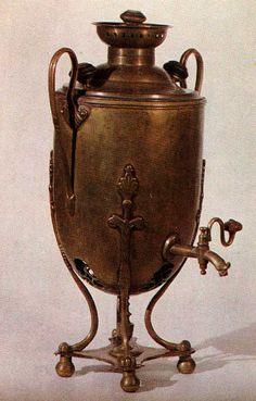 Antika Bakır Semaver Copper Crafts, Ottoman Design, Teapots, Kettle, Cup And Saucer, Cups, Museum, Coffee, Antiques