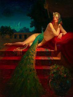 th au de cline cloptre tableau vert edward up amricaine rich coloration du paon egypte ancienne consulter - Coloration La Rich