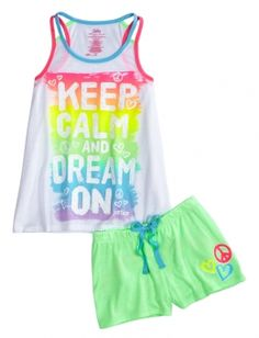 Keep Calm Dream On Pajama Set