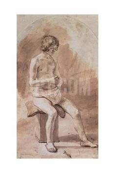 Study of a Nude Youth Giclee Print by Rembrandt van Rijn at Art.com