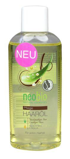 Olejek do włosów z aloesem i olejkiem arganowym Eko, 75 ml - neobio