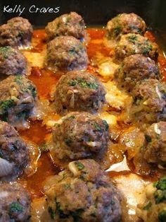 Kelly Craves...: Smoked Mozzarella Stuffed Meatballs - Original Recipe, Sept 2012