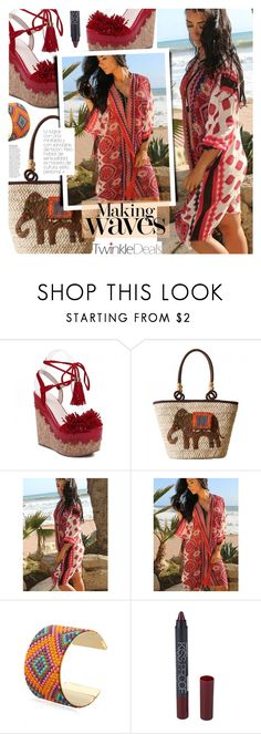 """""""Untitled #1509"""" by noviii ❤ liked on Polyvore featuring Anja, strawbags, PomPoms, twinkledeals and summer2016"""