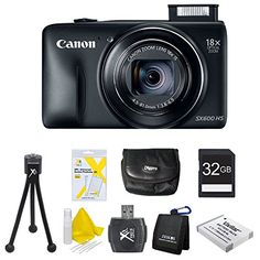 Canon PowerShot SX600 HS 16.1 MP CMOS Digital Camera with 18x Image Stabilized Zoom 25mm Wide-Angle Lens and 1080p Full-HD Video (Black) Super Bundle- Includes camera, 32 GB SDHC Memory Card, BP-6L Battery Pack, Carrying Case, SD USB Card Reader http://cameras.henryhstevens.com/shop/canon-powershot-sx600-hs-16-1-mp-cmos-digital-camera-with-18x-image-stabilized-zoom-25mm-wide-angle-lens-and-1080p-full-hd-video-black-super-bundle-includes-camera-32-gb-sdhc-memory-card-bp-6l-ba/
