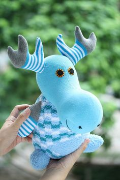 T8 Plush stuffed animal Personalized toys deer by Toyapartment, $25.90