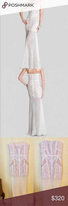 BCBGMAXAZRIA Gown brand new BCBGMAXAZRIA gown new with tags never worn.  Perfect for a bridal shower or as a wedding dress BCBGMaxAzria Dresses Wedding