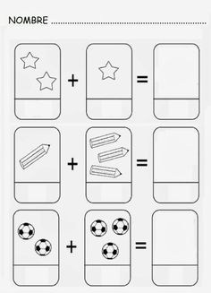 Number and basic math worksheets Kindergarten Math Activities, Preschool Printables, Kindergarten Worksheets, Kindergarten Activities, Preschool Activities, Teaching Kids, Kids Learning, Grande Section, Math Addition