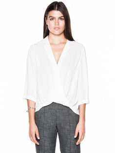 Soft Georgette Front Wrap Top