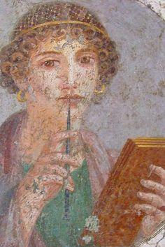 Frescoes from the Villa di Guilia Felice in Pompeii Roman 1st century CE