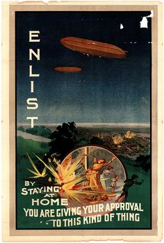 WWI: 'Down with This Sort of Thing!' World War 1 Australian enlistment poster Ww1 Posters, Political Posters, Vintage Ads, Vintage Posters, Ww2 Propaganda, Historia Universal, Pilot, Anzac Day, World War One