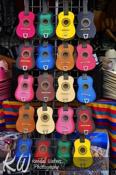 Colourful Ukeleles | Kendall Walters Photography