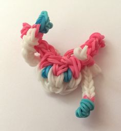 A Sylveon Charm from Pokemon made of rainbow loom bands. https://www.etsy.com/au/listing/215885743/sylveon-rainbowloom-charm?ref=related-0