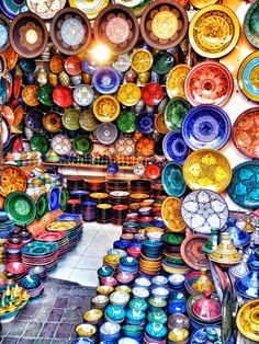 Marrakech souks  Pure torture! My ultimate travel dream! Shopping the souks of morocco, syria and middle east!