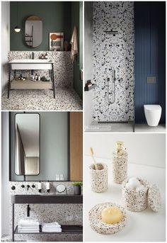 Terrazzo, Archi Design, Bathroom Interior Design, Toilet, House Design, Mirror, Furniture, Decoration, Home Decor