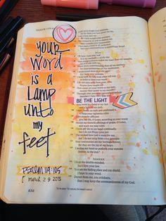 Your word is a lamp unto my feet-Psalm 119:105 original art- J.Meier