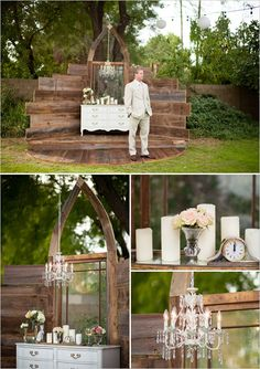 This is a beautiful altar! Great for a unique outdoor wedding.