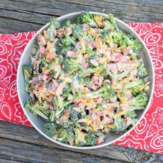 Keto Spicy Sweet Broccoli Salad