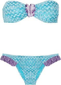 Fiandre Crochet-knit Bandeau Bikini