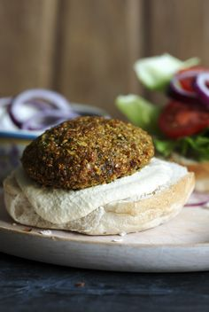 A falafel that thinks its a veggie burger - genius!